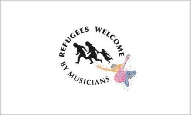Refugees welcome by musicians