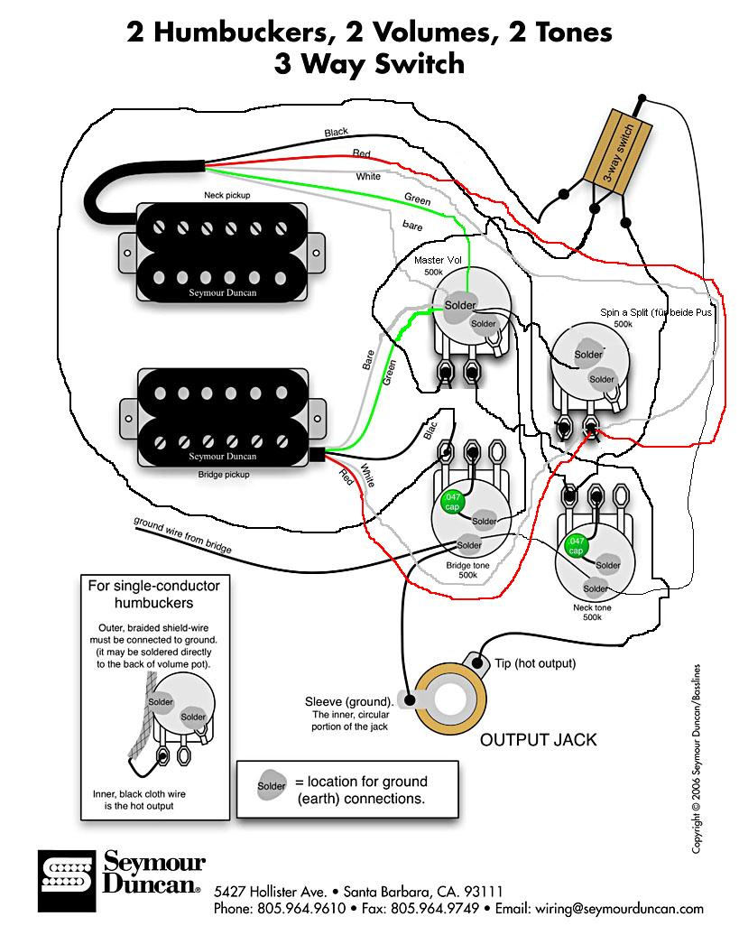 Ausgezeichnet Gitarre Schaltplan Zwei Humbucker Galerie ...