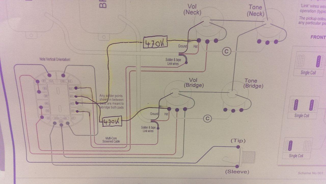 Prs 5 Way Rotary Split Mit Widerstand Anpassen Musiker Board Wiring Schematic 1 2 3