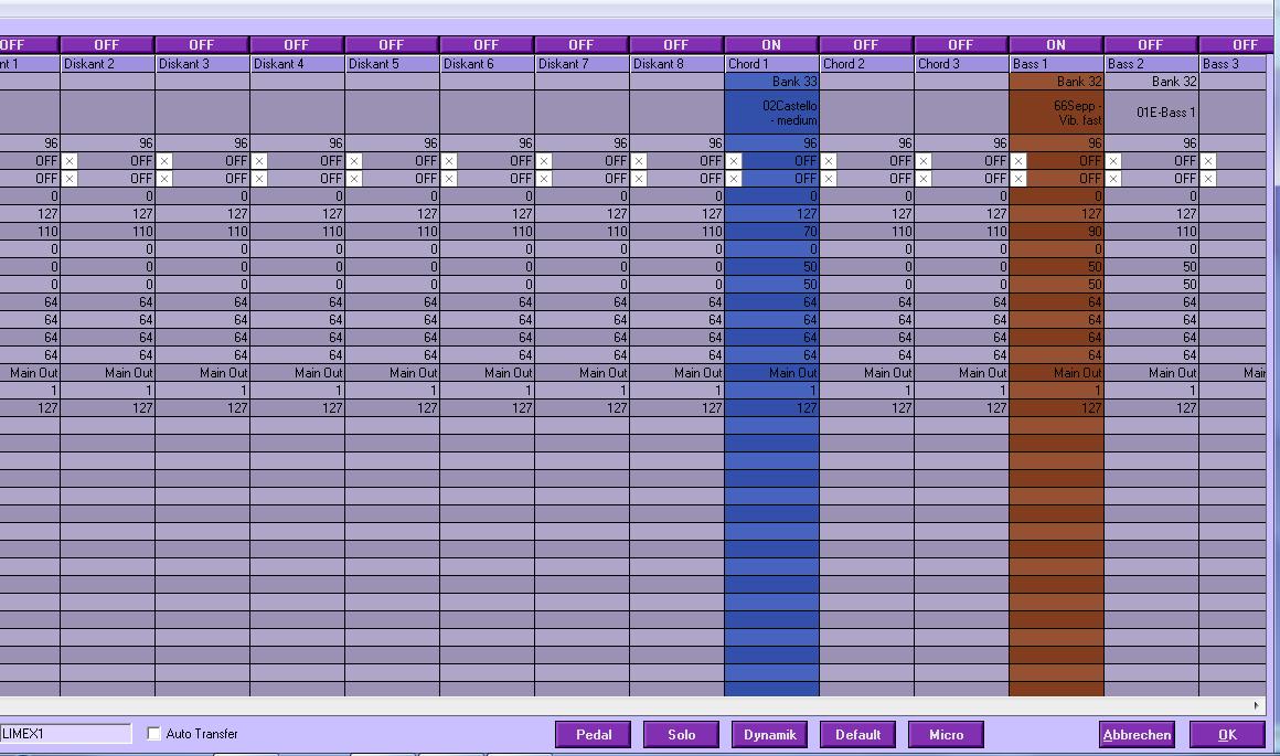 Limex PC Software | Musiker-Board