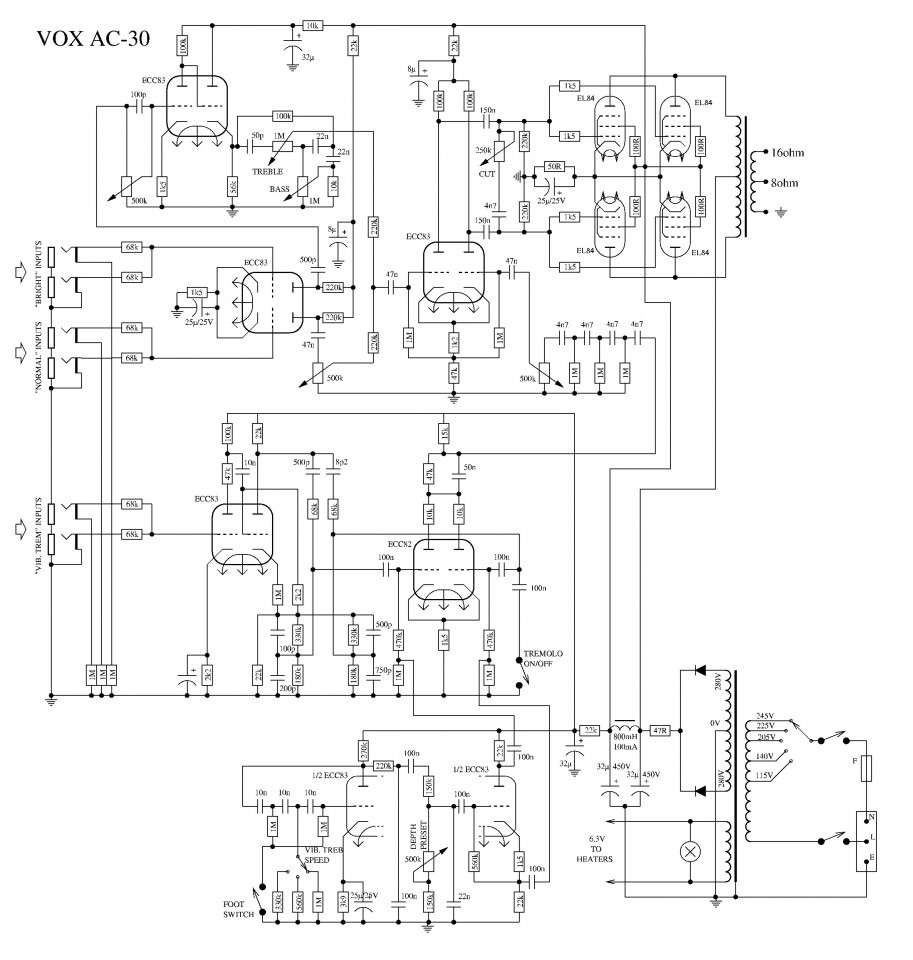 Baubericht] Eigenbau Tophead Vox AC30 | Musiker-Board