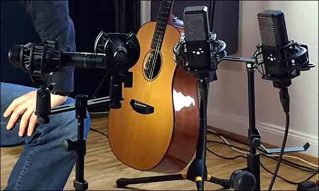 Akustikgitarre Aufnahme
