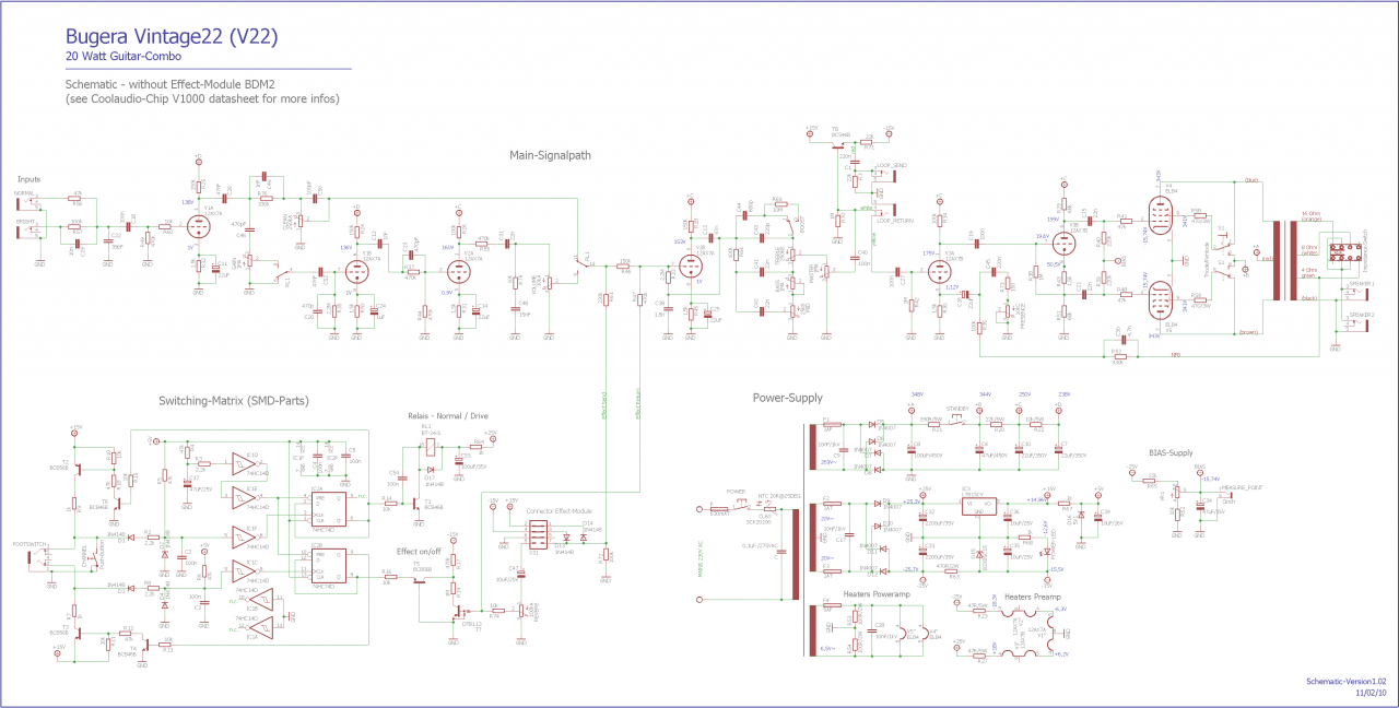Bugera V22 Schematic Wire Center This Time Delay Circuit Uses 2sc2008 2sa953 Timer Which Can Be Used Infinium Mods Musiker Board Rh De Vintage
