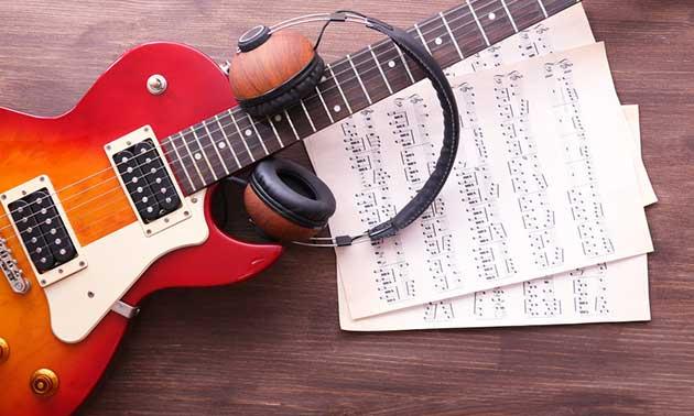 Gitarre Noten Kopfhörer