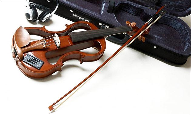 E-Geige Violine Detail