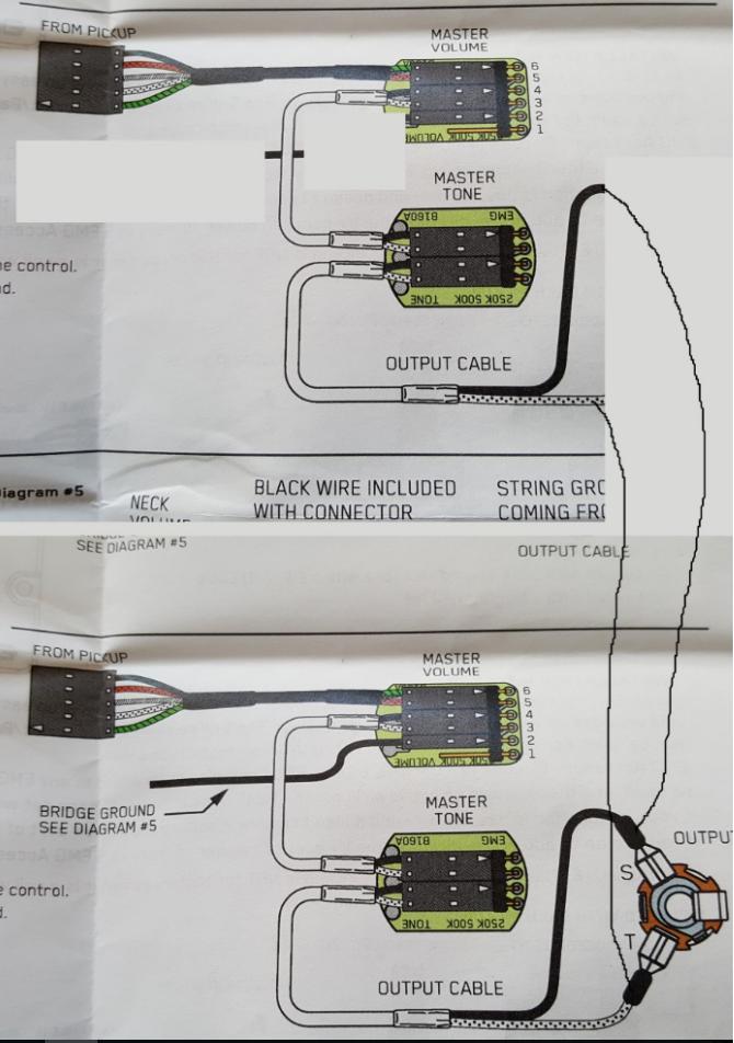 EMG 35Hz Verdrahtung für 2x Volumen und 2x Ton | Musiker-Board