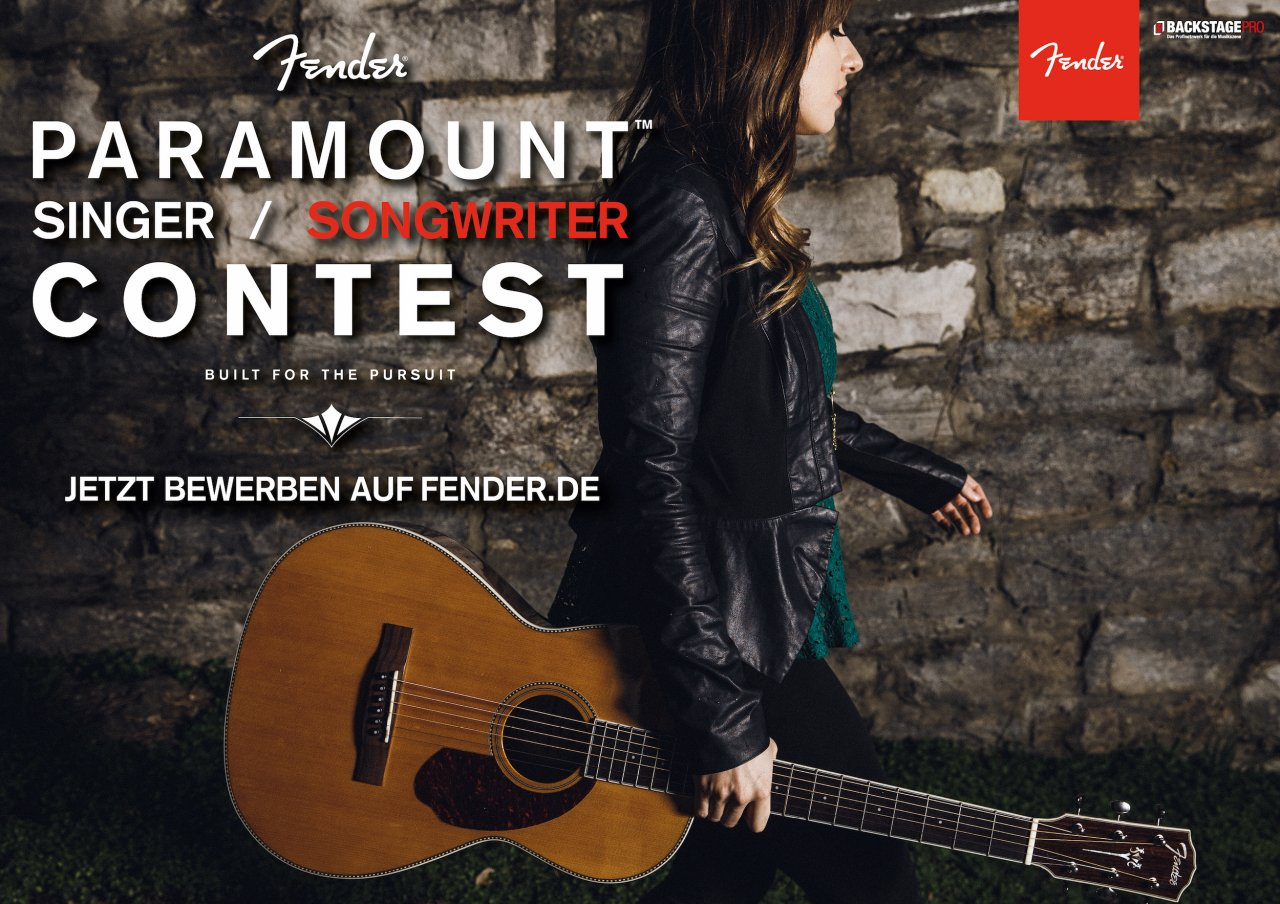 Fender Paramount Singer & Songwriter Contest 2016