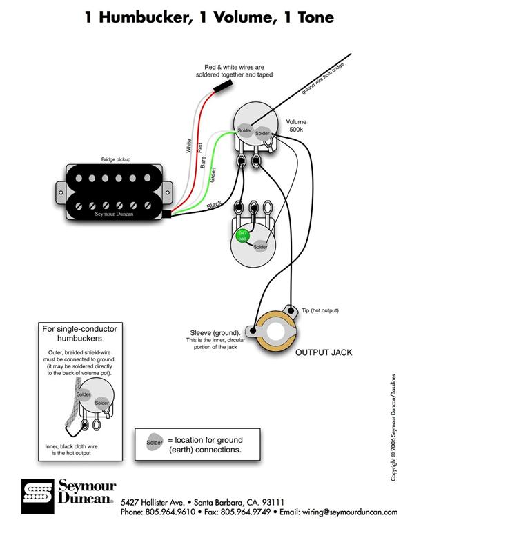 Kellerfund: 1 Humbucker, 1 Volume, 1 Tone | Musiker-Board