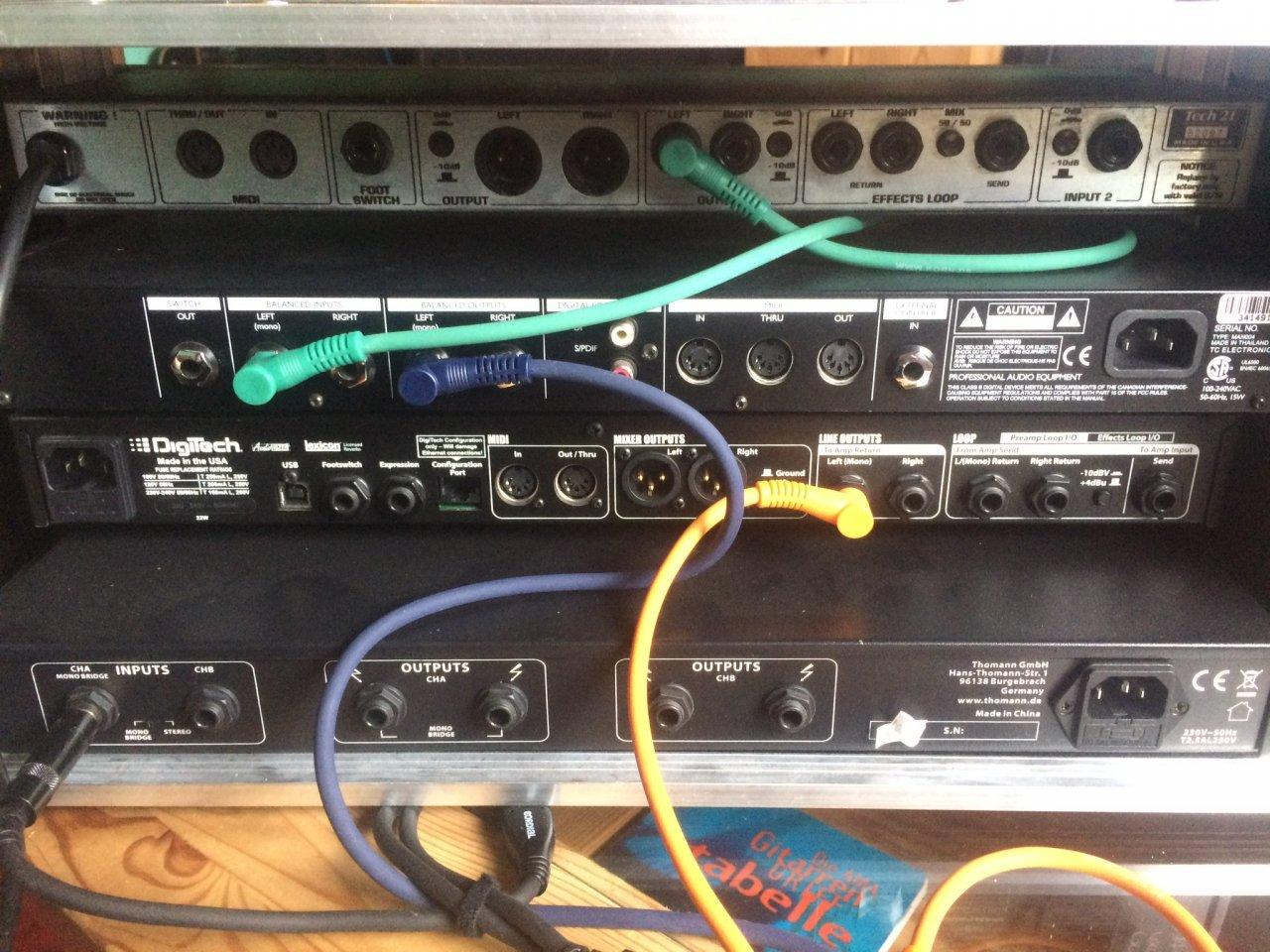Hilfe bei Verkabelung meines Racks | Musiker-Board