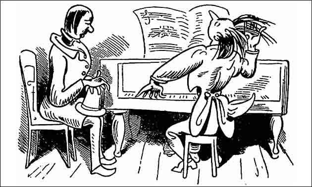 Klavierunterricht Zeichnung