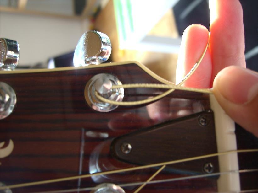 Akustikgitarre Kopfplatte