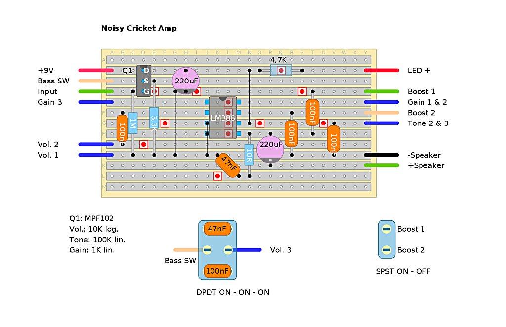 Ungewöhnlich Cricket Noicey Schaltplan Zeitgenössisch - Elektrische ...