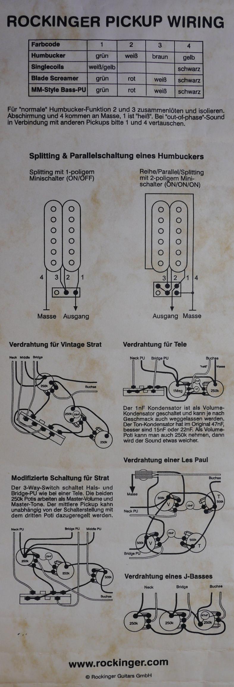Schön 2 Humbucker 1 Volume 1 Ton 3 Wege Blade Schalter Galerie ...