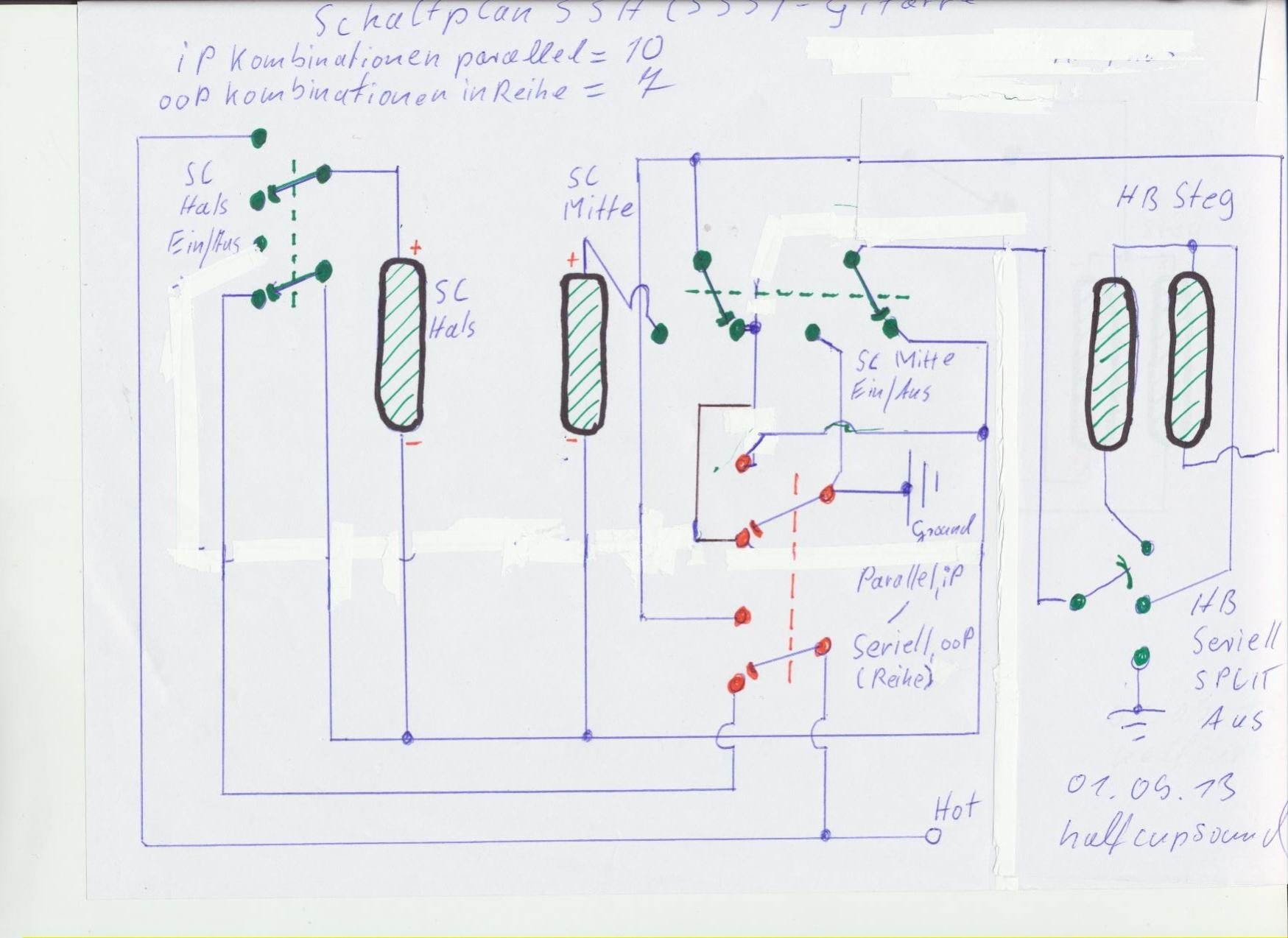 Groß Fabrik Hss Gitarre Schaltplan Bilder - Schaltplan Serie Circuit ...