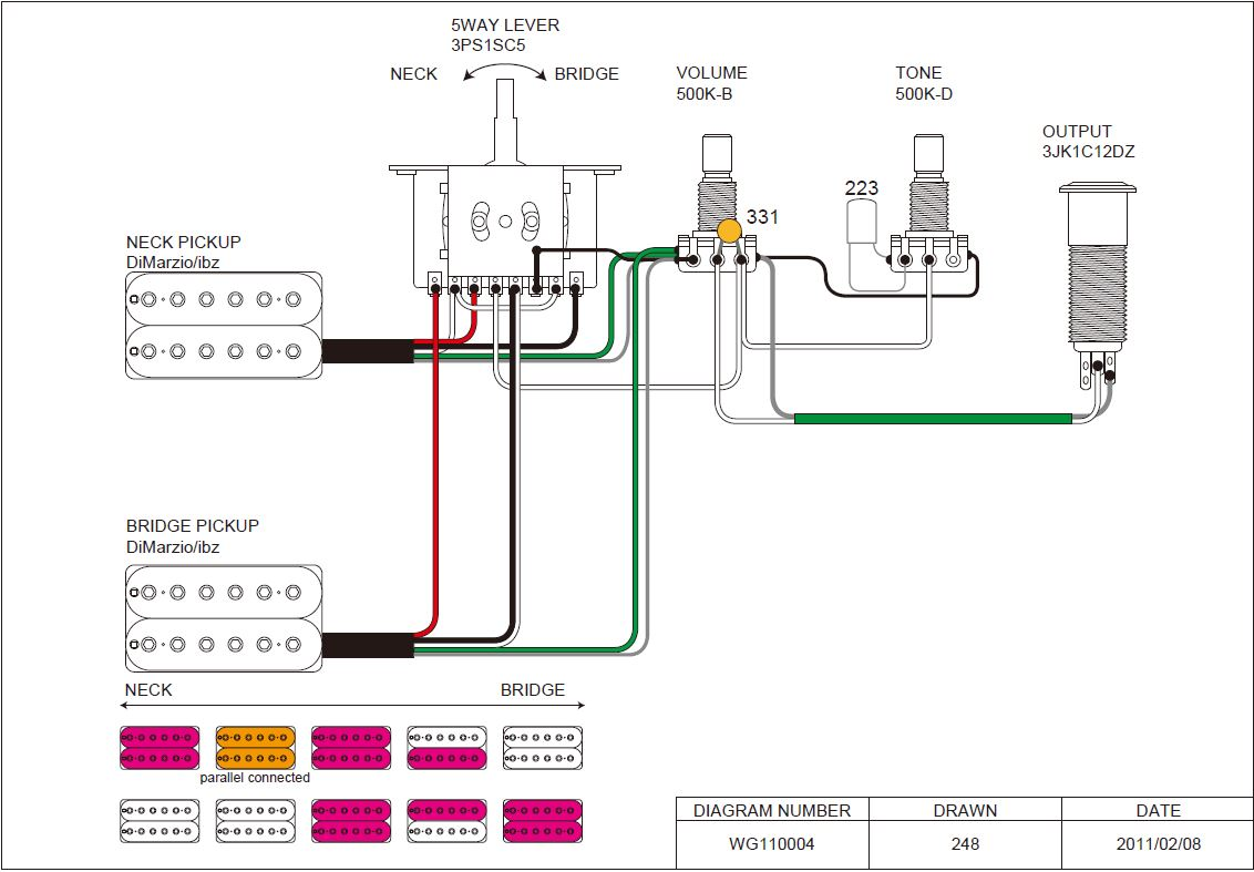 Ziemlich Ibanez Pickup Schaltplan Zeitgenössisch - Elektrische ...