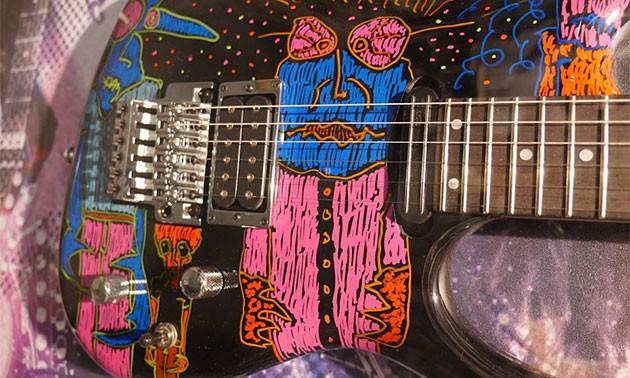 Joe Satriani Gitarre Detail