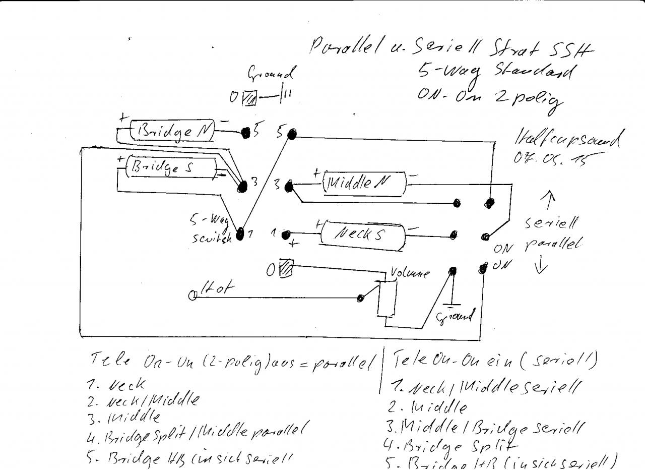 Mit Strat-Schalter On-On von parallel auf seriell (Teleschalter ...