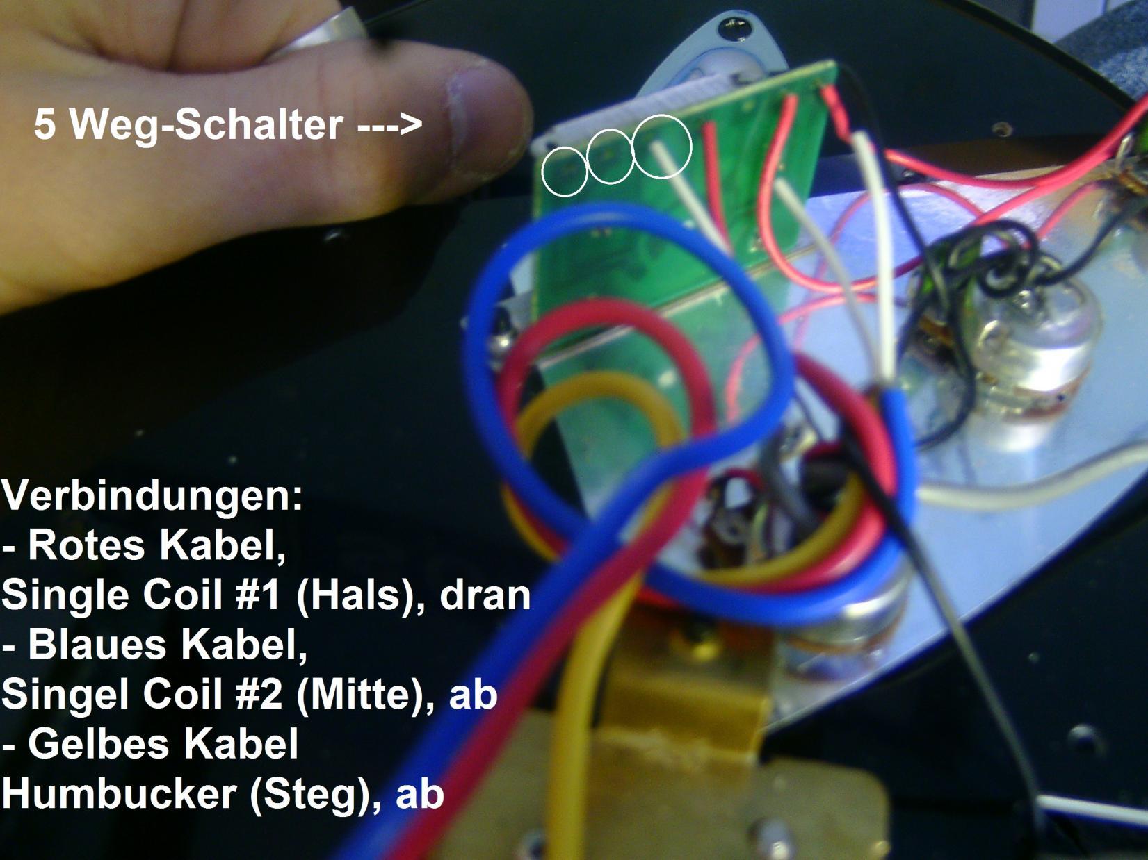 Wunderbar 2 Humbucker 5 Wege Schalter Verkabelung Bilder - Die ...