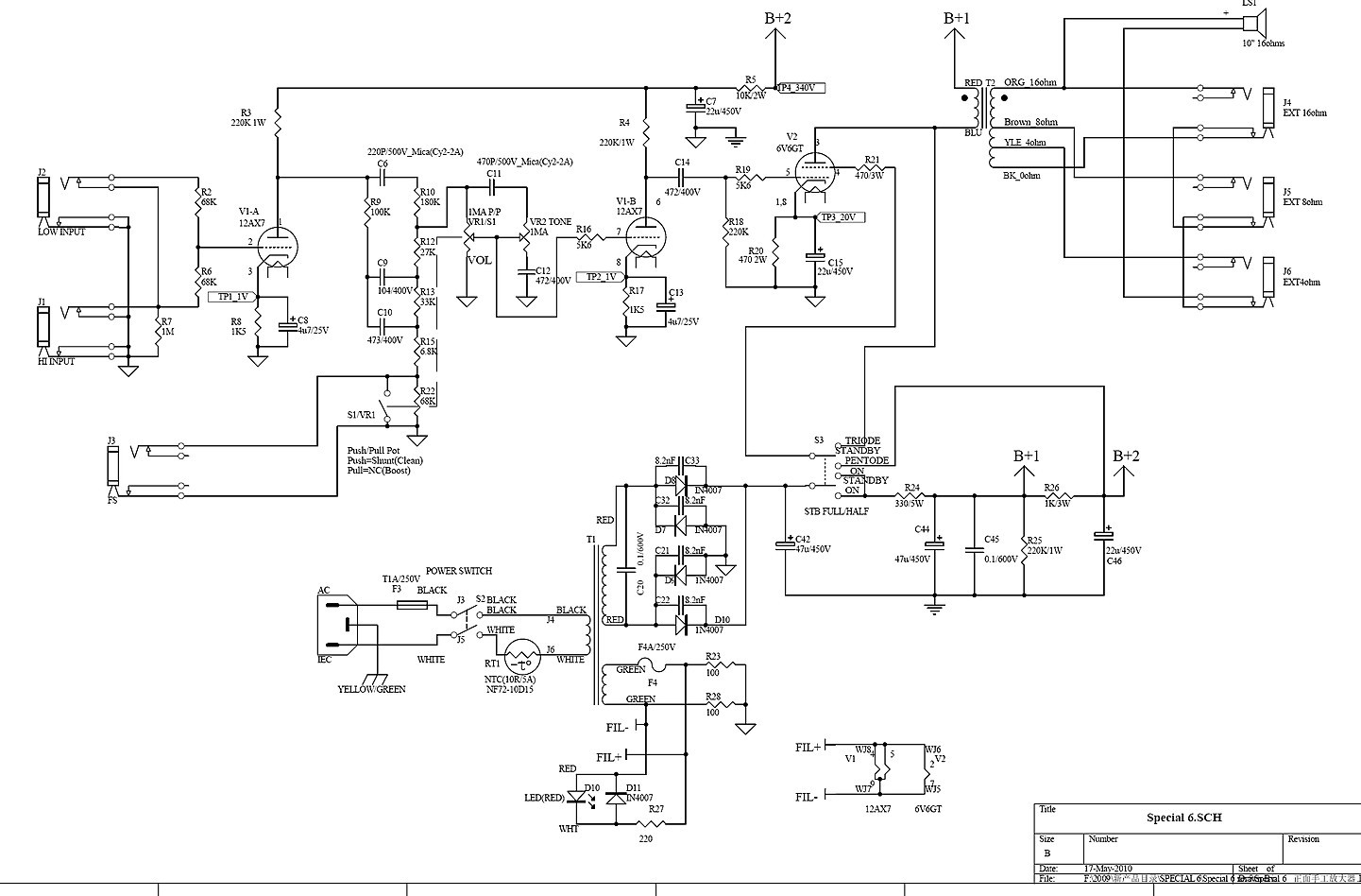 Vht Overdrive Pedal Schematic 12ax7 Wiring Boost Diagram Special 6 And The Parasite Solved Gear Page I Got