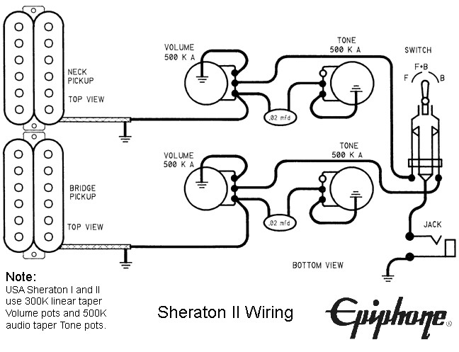 Epiphone Sheraton wiring problems