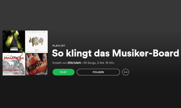 Musiker-Board Spotify Playlist