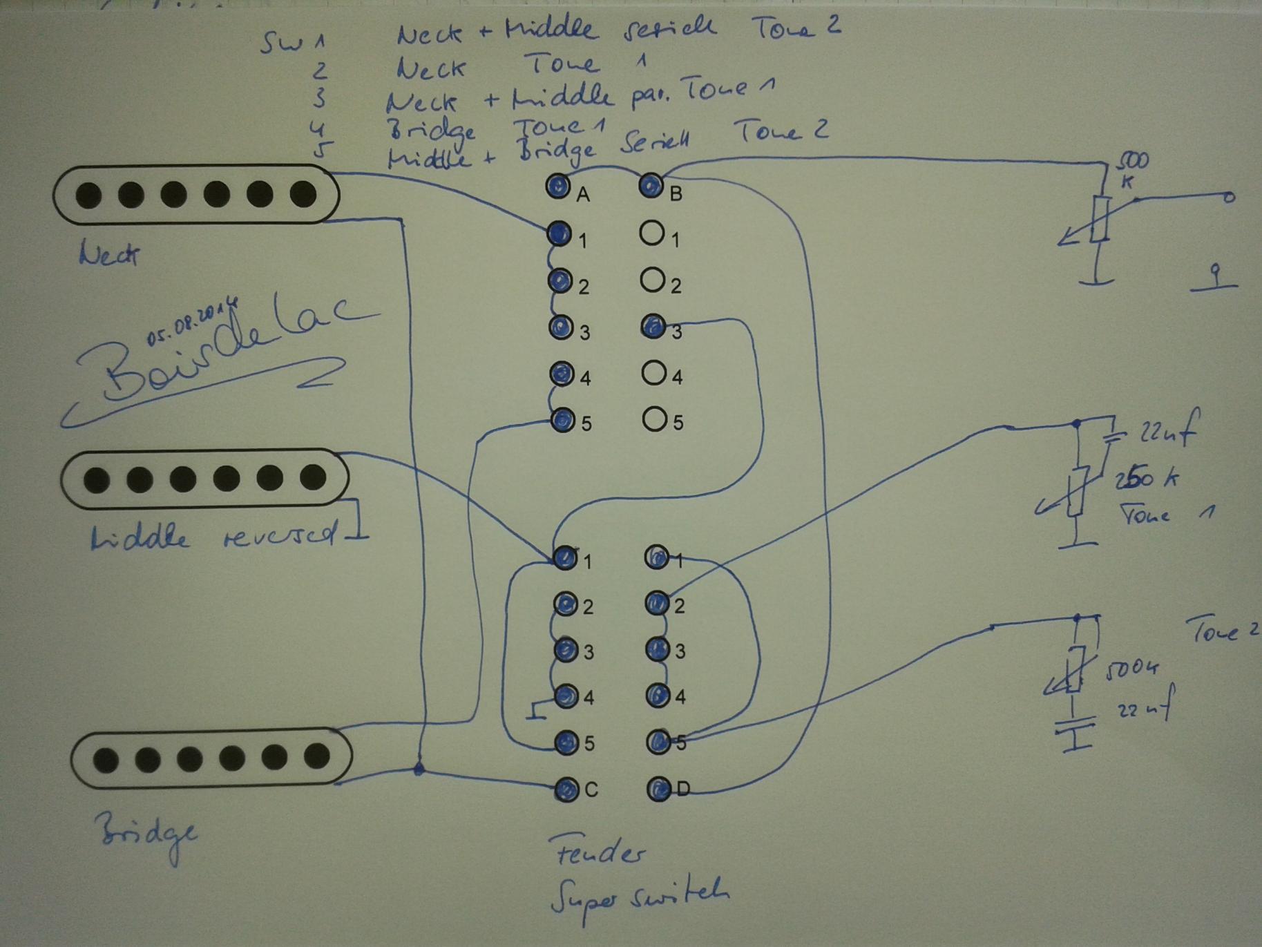 Serielle Schaltung von Single Coils mit Hilfe eines Push/ Pull ...