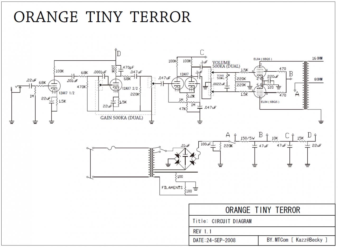 Tiny Terror - Transformator Windungszahlen und Frage zu ... on