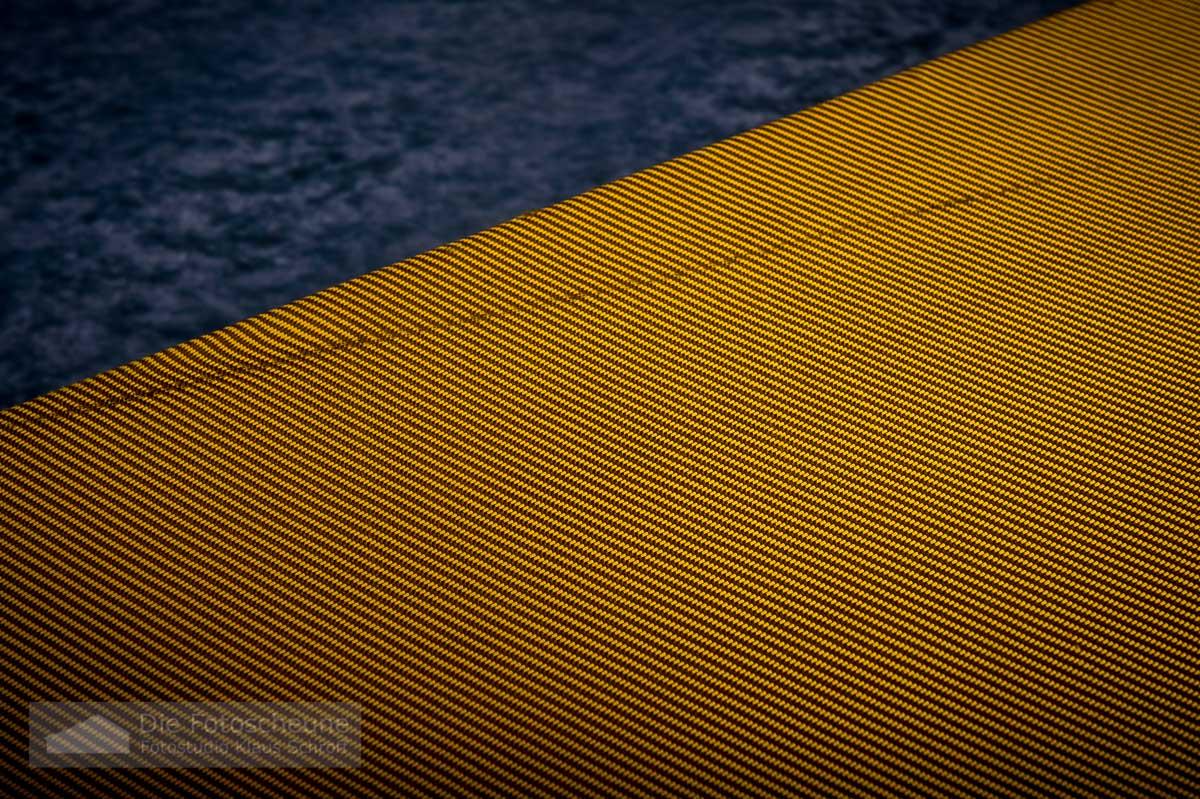 tweed koffer yellow