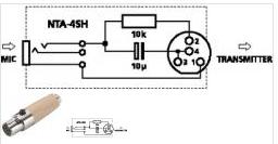 Headsetmikro 3-polig für verschiedene Taschensender vor allem AKG ...