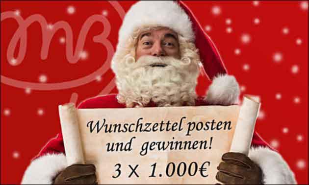 Weihnachtsmann Verlosung
