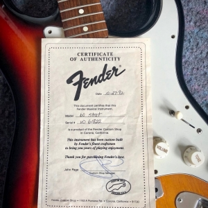 Early Fender Custom Shop Strat - 1992